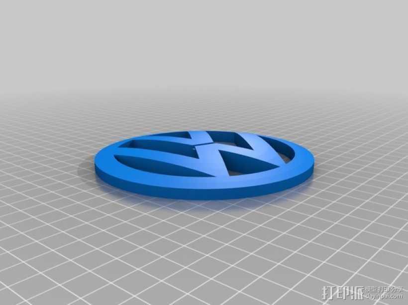 大众汽车 标志 3D打印模型渲染图