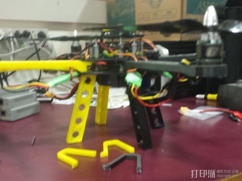 Crossfire四轴飞行器 中心起落架 3D打印模型渲染图