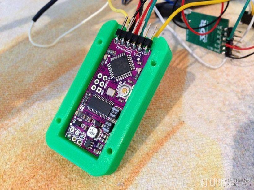 MinimOSD电路板外壳 3D打印模型渲染图