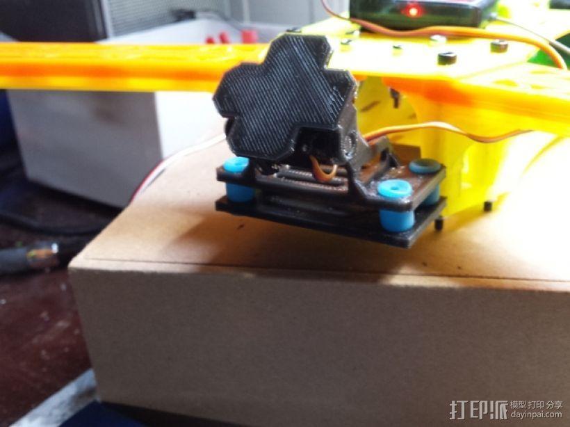 四轴飞行器 相机固定夹 3D打印模型渲染图