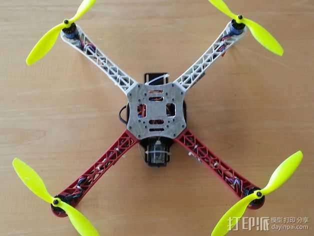 Hobbyking Q450四轴飞行器顶板 3D打印模型渲染图