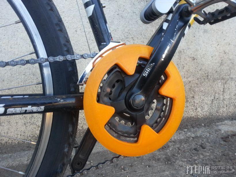 Shimano山地车 链条保护套 3D打印模型渲染图