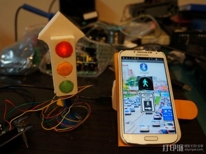 交通灯 红绿灯 3D打印模型渲染图