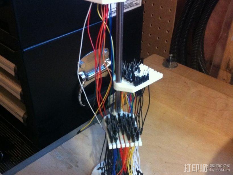 跳线收纳架 3D打印模型渲染图