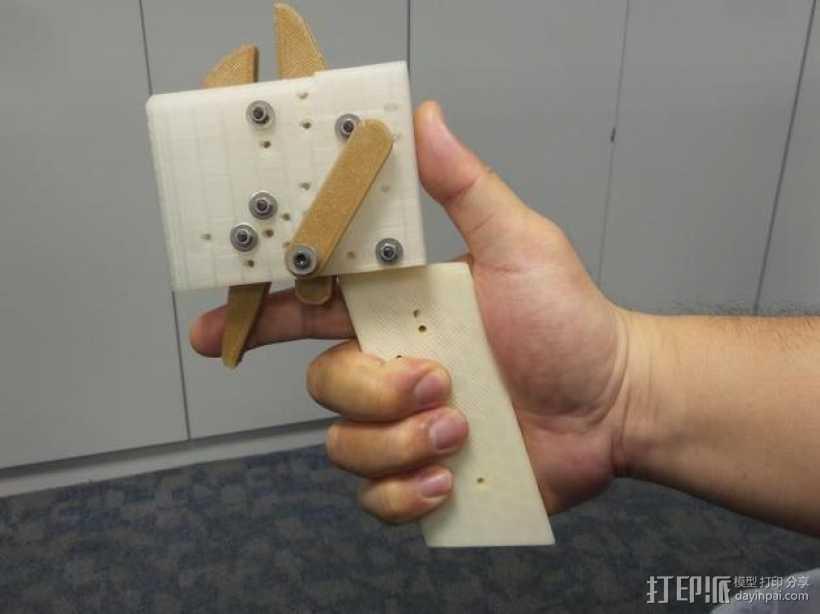 十字弓 触发装置 3D打印模型渲染图