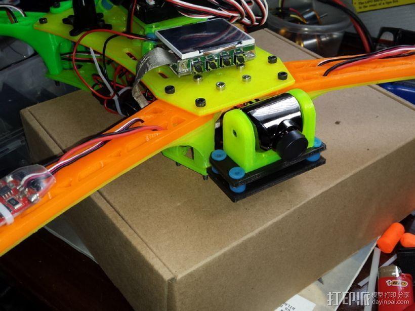 Spyda 500四轴飞行器 相机支架 3D打印模型渲染图