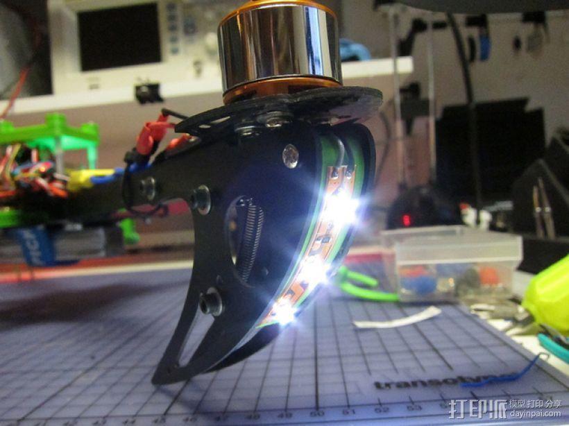 X525 V3四轴飞行器 LED灯条架 3D打印模型渲染图