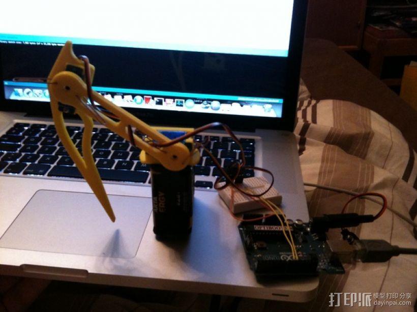蜘蛛机器人腿部 3D打印模型渲染图