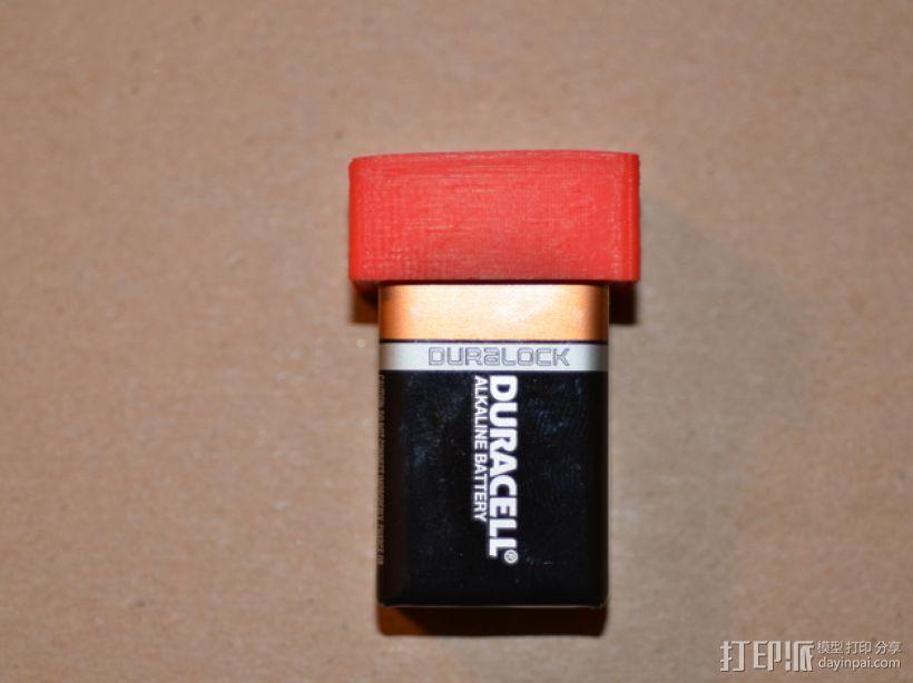 9伏电池保护罩 3D打印模型渲染图