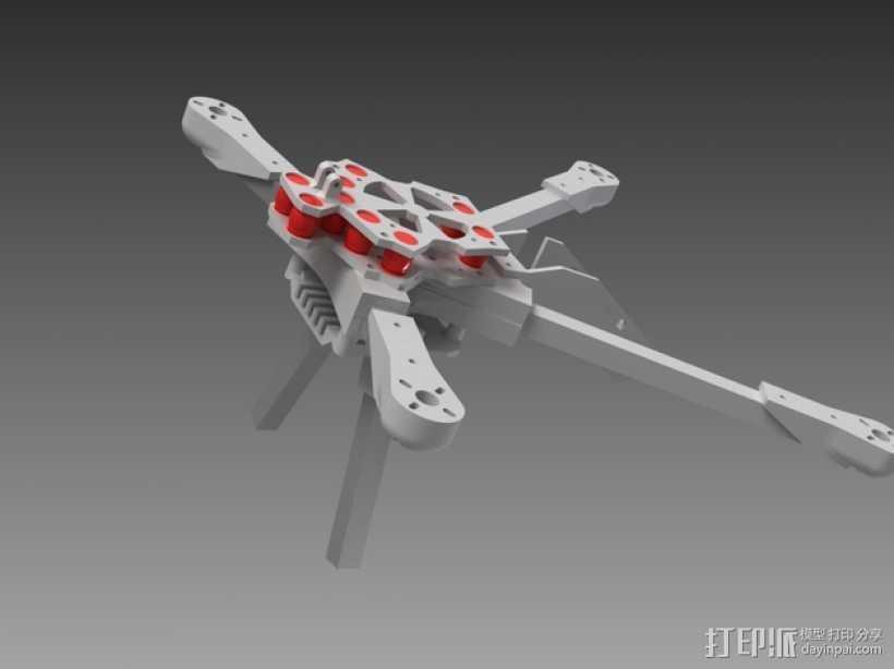 四轴飞行器v1 3D打印模型渲染图