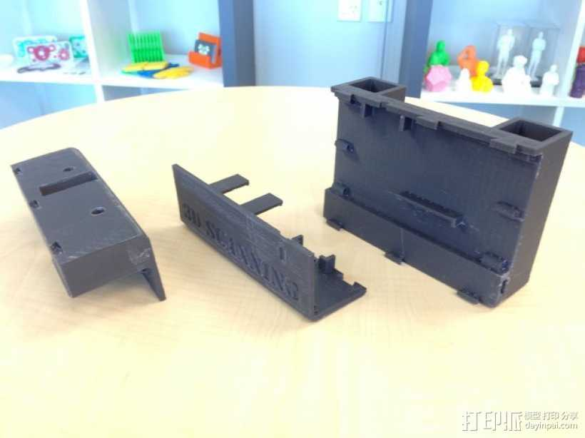 3D扫描仪夹具 3D打印模型渲染图