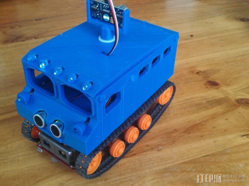 "Logitraxx""雪地先锋""履带式机器人 3D打印模型渲染图"