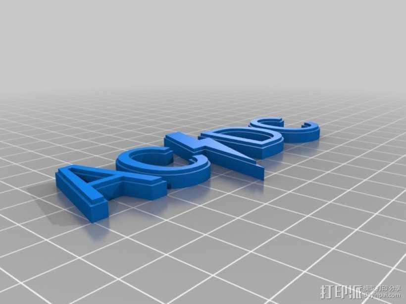 AC/DC 标志 3D打印模型渲染图