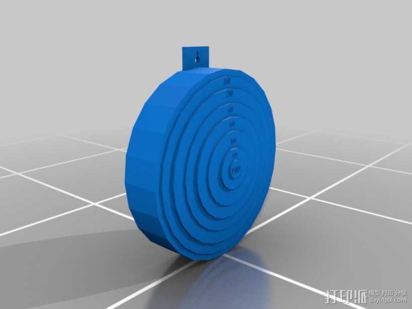 靶子 3D打印模型渲染图