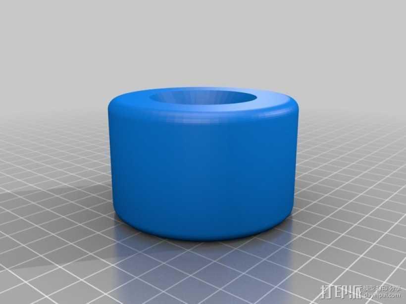 长板 轮子 3D打印模型渲染图