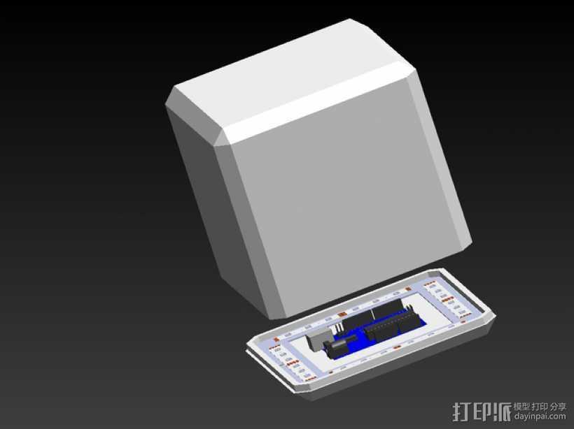 RGB LED发光立方体 外壳 3D打印模型渲染图