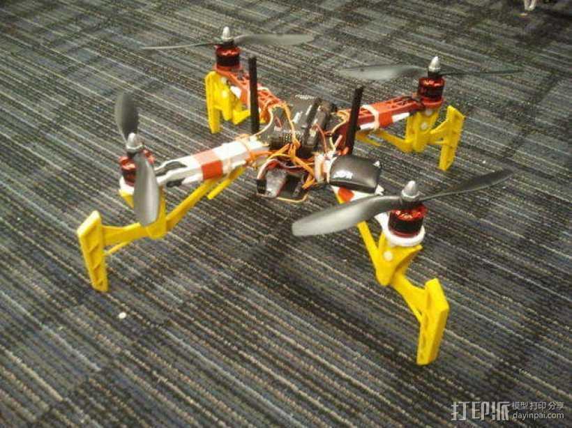 DJI Flame Wheel 330四轴飞行器 起落架 3D打印模型渲染图