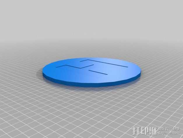 迷你直升飞机 起降场  3D打印模型渲染图