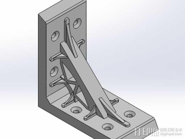 直角夹 3D打印模型渲染图