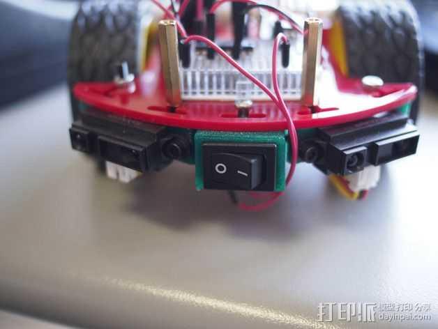 Quickbot机器人 开关支座  3D打印模型渲染图