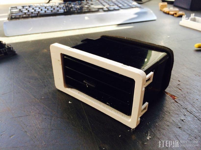 日产汽车 空调通风口塑料罩 3D打印模型渲染图