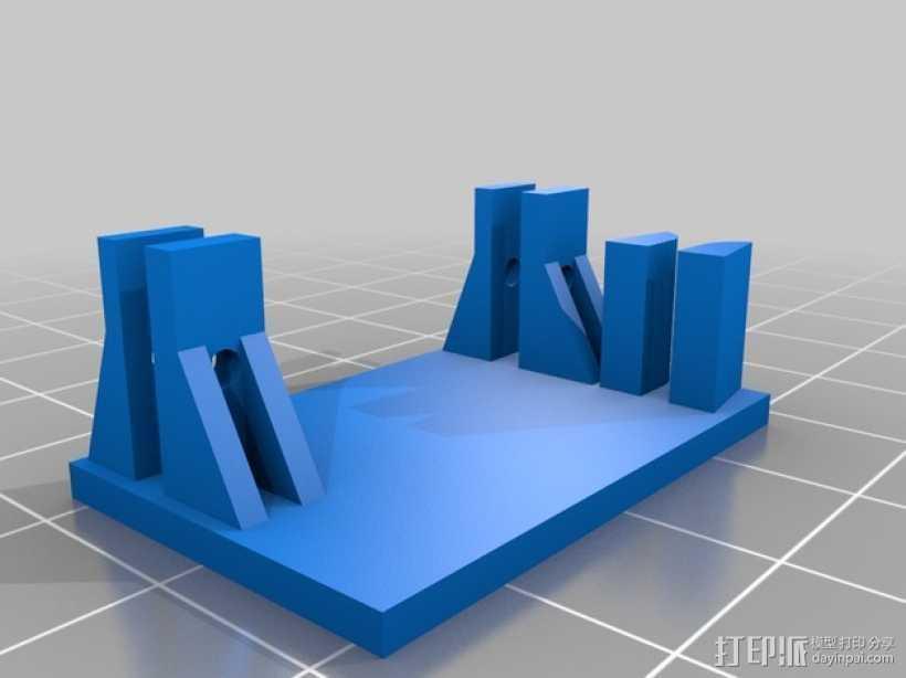 TG9e伺服支架 3D打印模型渲染图