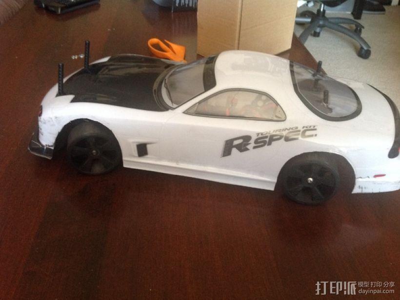漂移专用轮胎 3D打印模型渲染图