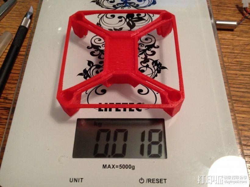 Hubsan X4多轴飞行器 相机支架 3D打印模型渲染图