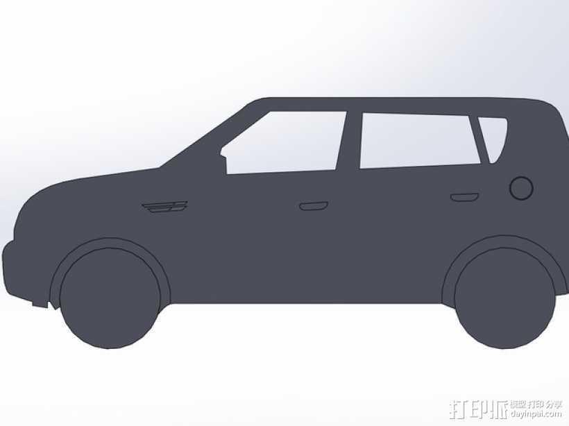 起亚秀尔汽车 2D模型 3D打印模型渲染图