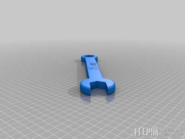 25毫米扳手 3D打印模型渲染图