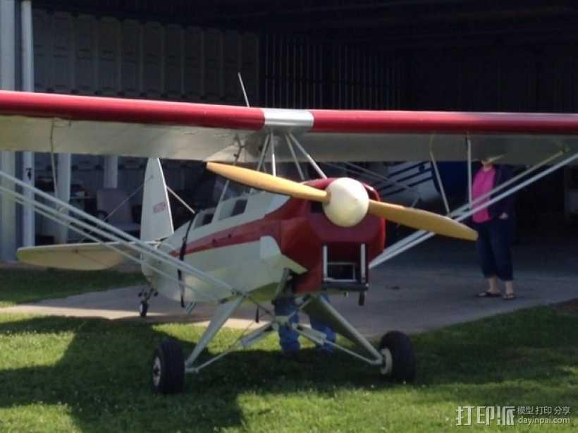 飞机螺旋桨整流罩 3D打印模型渲染图