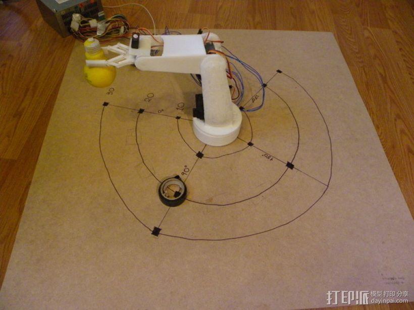 AURA机械臂零部件 3D打印模型渲染图