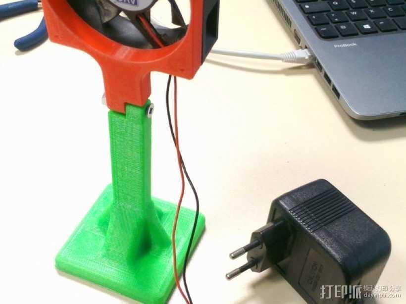 风扇底座 3D打印模型渲染图