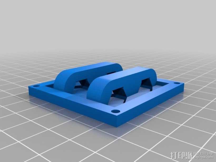 按钮面板 3D打印模型渲染图