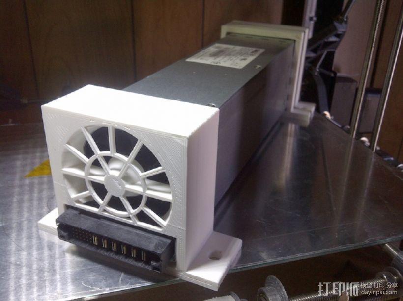电源风扇安装支架 3D打印模型渲染图