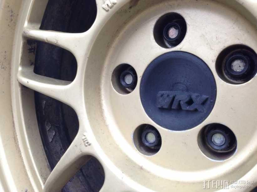 汽车轮胎中心盖 3D打印模型渲染图