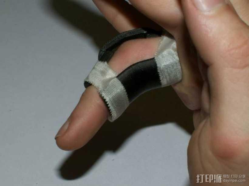 手指夹板  3D打印模型渲染图