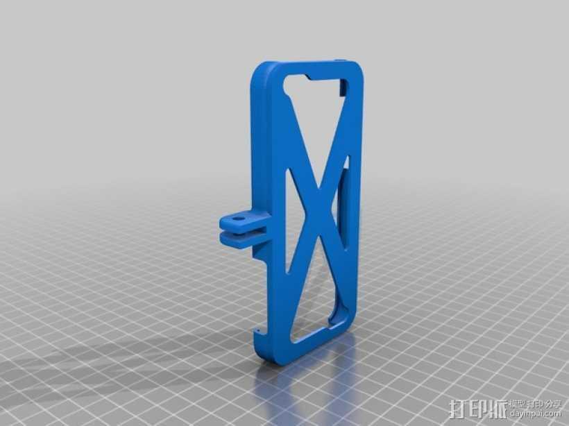 自行车 iPhone 5C手机支架 3D打印模型渲染图