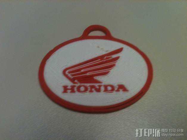 本田摩托 钥匙扣 3D打印模型渲染图