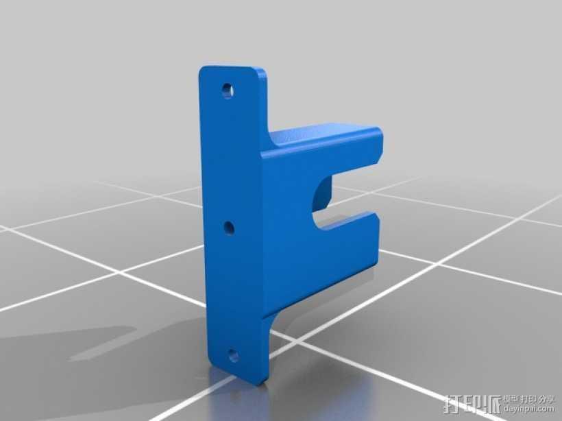 超声传感器支架 3D打印模型渲染图