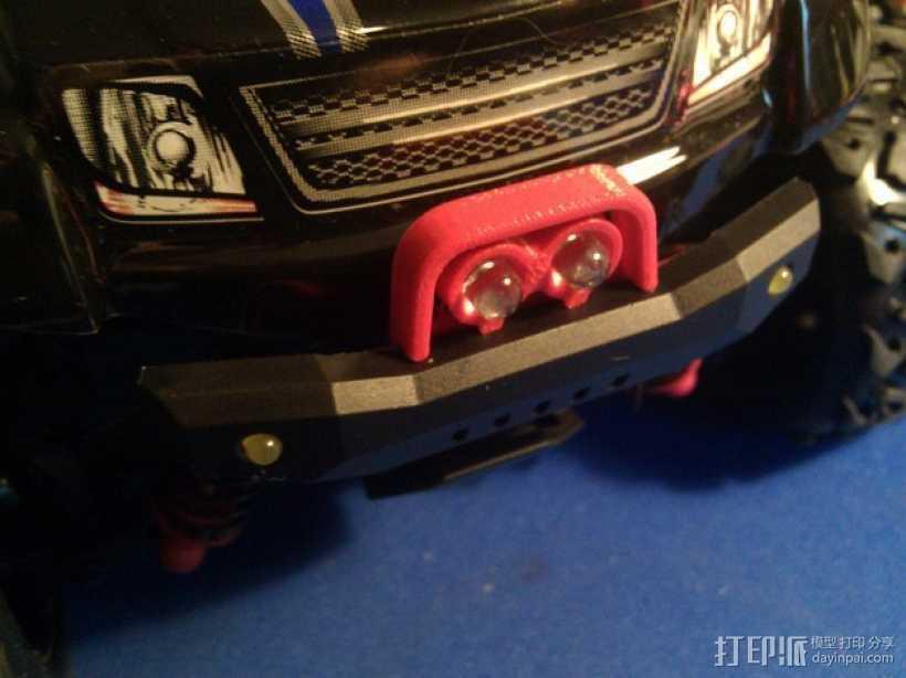 Latrax Teton遥控越野车 LED灯支架 3D打印模型渲染图