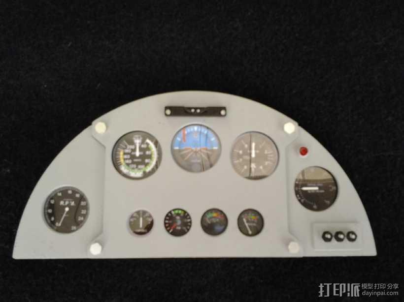 驾驶舱仪表板 3D打印模型渲染图