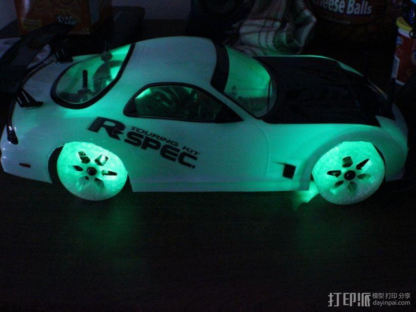遥控汽车 漂移轮 3D打印模型渲染图