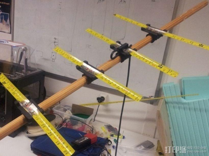 八木天线 支撑零部件 3D打印模型渲染图
