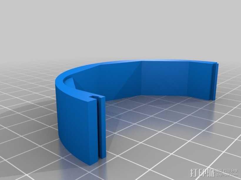 Speedia钓鱼绕线器零部件 3D打印模型渲染图