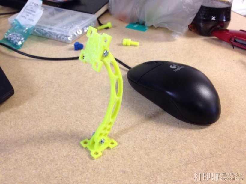 可调节传感器支架 3D打印模型渲染图