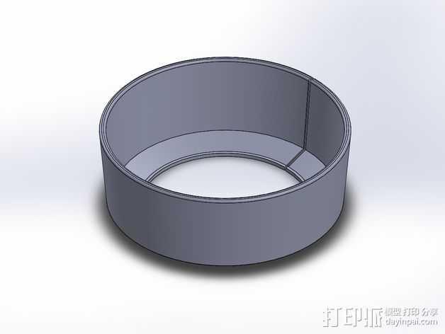 尼康相机镜头遮光罩 3D打印模型渲染图