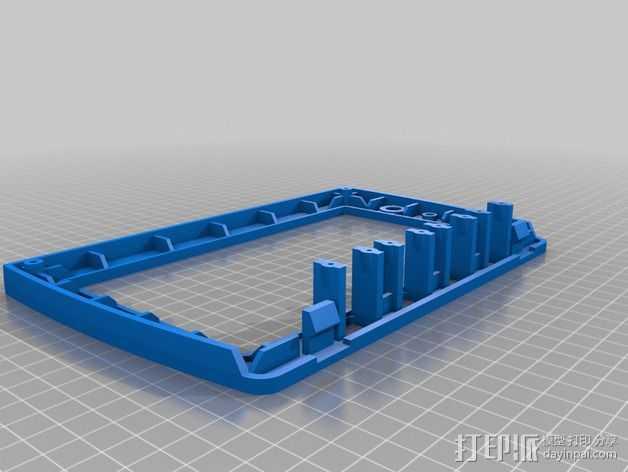 无线电面板  3D打印模型渲染图