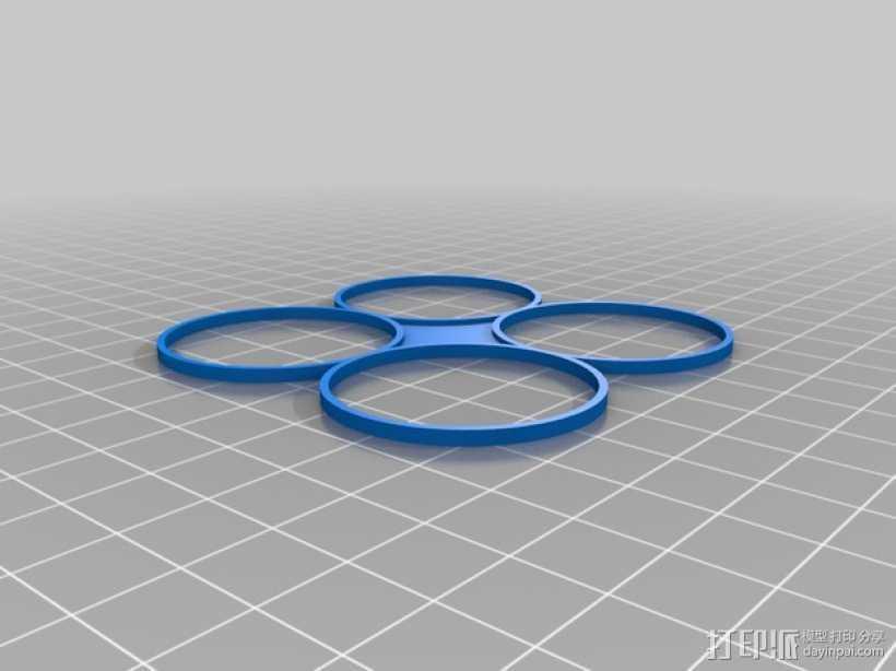 螺旋桨保护罩 3D打印模型渲染图
