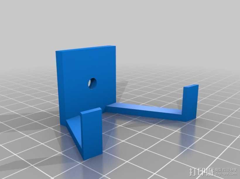 扬声器 喇叭 底座 3D打印模型渲染图